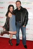 Christina DeRosa and friend Jacob — Stock Photo