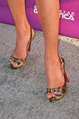 Tricia Helfer's shoes — Foto de Stock