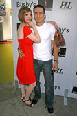 Kiersten Warren and Kirk Acevedo at Ante Up For The Arts Celebrity Poker Night Benefitting Notre Dame High School. Busbys East, Los Angeles, CA. 05-18-08 — Stock Photo