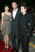 Michelle Monaghan with Ben Affleck and Casey Affleck — Stock Photo