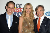 Richard Hilfiger with Dee Ocleppo and Tommy Hilfiger — Stock Photo