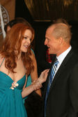 Marcia Cross and Woody Harrelson — Stock Photo