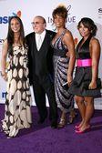 Alicia Keys, Clive Davis, Whitney Houston, Ashanti — Stock Photo