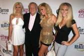 Holly Madison and Hugh Hefner with Bridget Marquardt and Kendra Wilkinsonat the FOX Reality Channel Really Awards 2007. Boulevard3, Hollywood, CA. 10-02-07 — Stock Photo