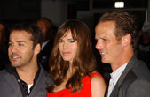 Jennifer Garner with Jeremy Piven and Peter Berg — Stock Photo