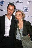 Sebastian Copeland and Julie Delpy — Stock Photo