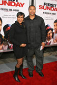 Terri J. Vaughn and husband Derrick — Stock Photo