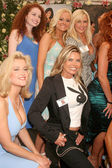 Katie Lohmann and Elke Jeinsen at the 2008 Playmate of the Year Luncheon. Playboy Mansion, Holmby Hills, CA. 05-08-08 — 图库照片