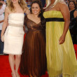 Michelle Pfeiffer with Nikki Blonsky and Queen Latifah — Stock Photo #16057233