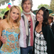 Stock Photo: AlanCurry with Ronn Moss and Devin DeVasquez at Playboy Mansion Easter Egg Hunt. Playboy Mansion, Los Angeles, CA. 04-07-07