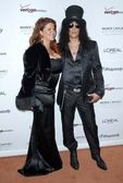 Slash and wife Perla — 图库照片