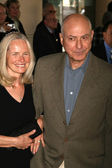 Alan Arkin and friend at the luncheon for the nominees of the 79th Annual Academy Awards. Beverly Hilton Hotel, Beverly Hills, Ca. 02-05-07 — Stock Photo