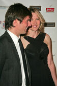Coley Laffoon and Lucy Lawless — Stock Photo