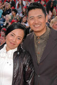 Chow Yun-Fat and wife Jasmine — Stock Photo
