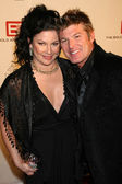 Winsor Harmon and guest — Stock Photo