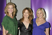 Tricia Helfer with Mary McDonnell and Katee Sackhoff — Stock Photo