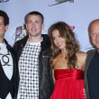 Постер, плакат: Ioan Gruffudd and Chris Evans with Jessica Alba and Michael Chiklis