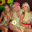 Alana Curry with Melissa Mojo Hunter and Katie Lohmann at Kandyland presented by the Karma Foundation. Playboy Mansion, Beverly Hills, CA. 06-23-07 - Stock Photo