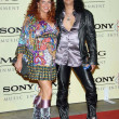 Foto Stock: Slash and wife Perla