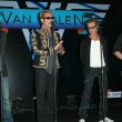 Alex Van Halen and David Lee Roth with Eddie Van Halen and Wolfgang Van Halen at the Van Halen Reunion Tour Press Conference. Four Seasons Hotel, Los Angeles, CA. 08-13-07 - Stock Photo