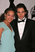 Tawny Cypress and Santiago Cabrera — Stock Photo