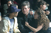 Russell Simmons with Eric Dane and Rebecca Gayheart — Stock Photo