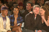Russell Simmons and Eva Pigford with Eric Dane and Rebecca Gayheart — Stock Photo