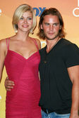 Adrianne Palicki and Taylor Kitsch in the press room of the 2007 Teen Choice Awards. Gibson Amphitheater, Universal City, CA. 08-26-07 — Stock Photo