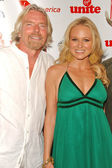 Richard Branson and Jewel — Stock Photo