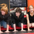 Rupert Grint with Daniel Radcliffe and Emma Watson — Stock Photo #16100403