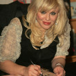 Courtney Love In Store Appearance - ストック写真