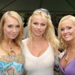 Постер, плакат: Alana Curry with Pamela Anderson and Katie Lohmann at the Playboy Mansion Easter Egg Hunt Playboy Mansion Los Angeles CA 04 07 07