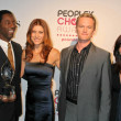 Isaiah Washington and Kate Walsh with Neil Patrick Harris and Alyson Hannigan - Stok fotoğraf