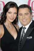 Adrianne Curry and Christopher Knight at the 5th Annual TV Land Awards. Barker Hangar, Santa Monica, CA. 04-14-07 — Stock Photo