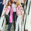 Adriana Lima, Selita Ebanks and Karolina Kurkova  at the arrival of the Victorias Secret Models via Private Jet to Burbanks Bob Hope Airport, Burbank, CA 11-14-06 — Стоковая фотография