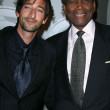 Adrien Brody and Sidney Poitier at the Giorgio Armani Prive Show to celebrate the Oscars. Green Acres, Los Angeles, CA. 02-24-07 - Stok fotoraf