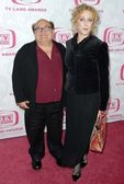 Danny DeVito and Carol Kane — Stock Photo