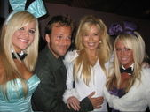 Stephen Dorff, Shanna Olson and friends — Stock Photo
