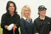 Alice Cooper with Heather Locklear and Haley Joel Osment at The 9th Annual Michael Douglas and Friends Celebrity Golf Event. Trump National Golf Club, Rancho Palos Verdes, CA. 04-29-07 — Stock Photo
