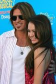 Billy Ray Cyrus, Miley Cyrus — Stock Photo