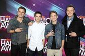 Aaron Scott, Kieran Ackerman, Adam Ackerman, Sonny Fredie Pederson at the 2012 TeenNick HALO Awards, Hollywood Palladium, Hollywood, CA 11-17-12 — Stock Photo