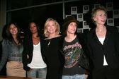 Janina Gavankar and Rose Rollins with Cybill Shepherd and Katherine Moennig — Stock Photo