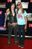 Kat Von D and guest arriving at the 2007 MTV Video Music Awards. The Palms Hotel And Casino, Las Vegas, NV. 09-09-07 — Stock Photo