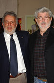 Sidney Ganis and George Lucas — Stock Photo
