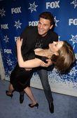 David Boreanaz and Emily Deschanel — Stock Photo