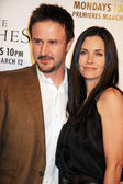 David Arquette and Courteney Cox — Stock Photo