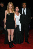 Rinko Kikuchi with Adriana Barraza and Alejandro Gonzalez Inarritu — Stock Photo