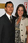 Adam Beach and wife Tara at the 12th Annual Critics Choice Awards. Santa Monica Civic Auditorium, Santa Monica, CA. 01-12-07 — Stock Photo