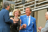 Mike Curb and Debby Boone with Pat Boone and Johnny Grant — Stock Photo