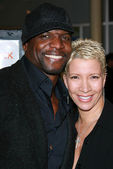 Terry Crews and wife Rebecca — Stock Photo